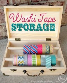 Washi tape storage is a whole other ballgame. | 56 Adorable Ways To Decorate With Washi Tape