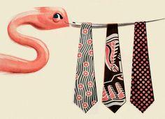 You're a smart bird when you're in the pink! Van Heusen ties.