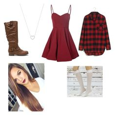 """""""Cutest outfit"""" by fashionpassion2020 ❤ liked on Polyvore featuring Glamorous, Madewell and Tiffany & Co."""