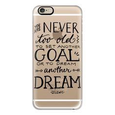 iPhone 6 Plus/6/5/5s/5c Case - Never Too Old to Dream ($40) ❤ liked on Polyvore featuring accessories, tech accessories, iphone case, iphone cover case i apple iphone cases