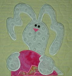Easter Table Runner   Applique Bunnies and Bright by pdqdesigns, $41.16