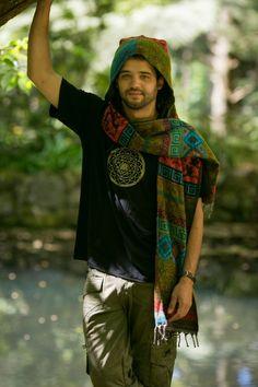 Hoodie Scarf Gypsy Wool Kashmiri Hoddie Scarf by AryaClothing