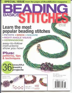 Bead and Button Beading Basics Stitches by BeadworkBrasil