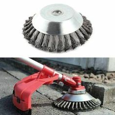 Tired of your trimmer being too weak to cut tough weeds? Replace your trimmer head with the Break Proof Steel Trimmer Blade that slices through grass, branches, weeds super FAST! Garden Weeds, Garden Hose, Garden Tools, Dandelion Light, Ideas Para Decorar Jardines, Hydrangea Care, Wire Brushes, Cool Tools, Lawn Mower