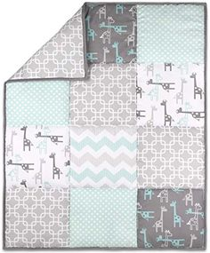 cool The Peanutshell Giraffe Crib Bedding Set for a Boy Girl and Unisex Nursery Baby Quilt Fitted Crib Sheet Crib Skirt Included 0 0 This crib bedding set includes a stylish trio of nursery essentials featuring playful giraffes, interlocking rings, zig zagging chevrons and playful dots.. Includes a coordinating fitted crib sheet, baby quilt and dust ruffle, you can start building your dream...
