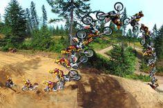 Double backflip on a motoX bike by Travis Pastrana.