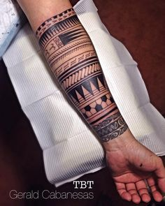 "27 Likes, 3 Comments - Gerald Cabañesas (@geraldcabanesas) on Instagram: ""Polynesian sleeve on progress, thanks Abbie! (Day 2, forearm) #polynesian #polynesiansleeve…"""