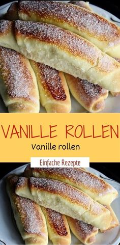 teig: 125 ml schmand prise salz 250 g mehl 125 g butter vanillecreme: ½ vanille schote 250 mascarpone 4 el puderzucker zusätzlich: rollen f. Easy Smoothie Recipes, Easy Smoothies, Easy Healthy Recipes, Sweet Recipes, Wine Recipes, Baking Recipes, Snack Recipes, Dessert Recipes, Desserts