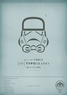 Great Star Wars poster of a Stormtrooper made from different characters. #typography #starwars