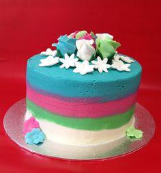 Como decorar tarta con buttercream de colores