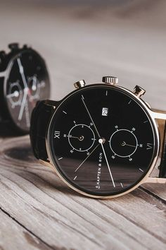 Luxury watches for men - Chrono All Black Croco Stylish Watches, Luxury Watches For Men, Cool Watches, Watches For Men Affordable, Women's Watches, All Black Watches, All Black Outfit, Black Outfits, Winter Outfits