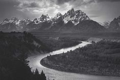 Ansel adams- the grand tetons and snake river