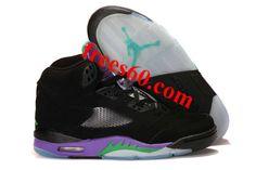 frees60.com for half off nike shoes $64.2 , Air Jordan 5 Retro Black Purple Men's Sneakers