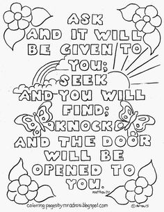 bible verse matthew 77 coloring page see more at my blog http