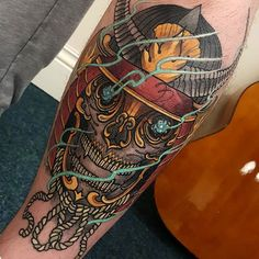Completely healed Skull! #tattoo #tattoos #tattooworkers #tattoosnob #tattoolifemagazine #triplesixstudios #neojapanese #uktta #art #artist #draw #drawing #japanesetattoos #kapala #tibetanskull #tibetan #triplesix #sunderland #northeast #teamego #elliottwells #thebesttattooartists #irezumicollective #irezumi #egomachines #egor12 #fusionink #fusioninks all done with the new ego r12 machine and fusion inks