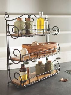 Stand it on the counter, hang it on the wall or fold-away for easy storage – our new Spice Rack is as versatile as the spices it hold Kitchen Interior, Kitchen Decor, Kitchen Design, Iron Furniture, Steel Furniture, Kitchen Organisation, Kitchen Storage, Organization, Woodworking Desk Plans