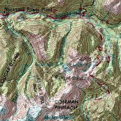 Western Pasyten Ross Lake Loop Backpacking Topo Map