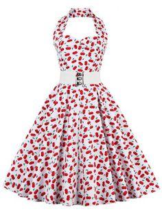 GET $50 NOW | Join RoseGal: Get YOUR $50 NOW!http://www.rosegal.com/vintage-dresses/cherry-print-vintage-dress-692807.html?seid=5505597rg692807