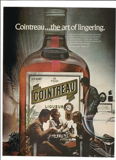 1973 Cointreau Liqueur Advertisement Art Of Lingering Party Chess Game Friends Get Together 70s Fashion Style Bar Pub Wall Art Decor