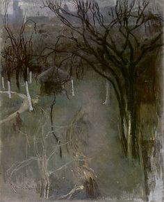 """Alfons Karpiński (1875 - 1961), """"Ogród o zmierzchu"""", 1916,"""