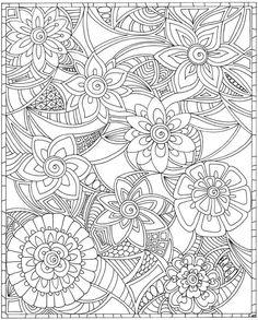 ESCAPES Joyful Gardens Coloring Book @ Dover Publications