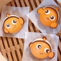 Cute Food Art, Creative Food Art, Steamed Cake, Steamed Buns, Mini Meringues, Cute Baking, Kawaii Bento, Bread Art, Cute Buns