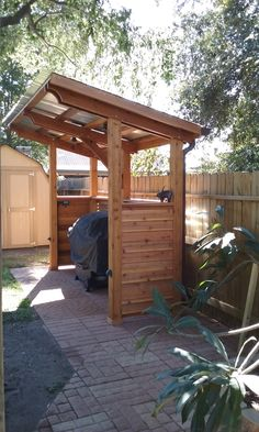 Outdoor Kitchen Ideas - Below you will locate some incredible outdoor cooking area design suggestions in addition to some suggestions that will certainly make your outdoor patio elegant and welcoming, delight in! Outdoor Grill Area, Outdoor Kitchen Grill, Outdoor Grill Station, Backyard Kitchen, Outdoor Kitchen Design, Bbq Kitchen, Diy Bbq Area, Outdoor Cooking Area, Outdoor Grilling