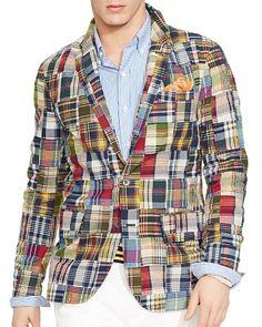 Ralph Lauren Madras Patchwork Sport Coat - Regular Fit | Bloomingdale's