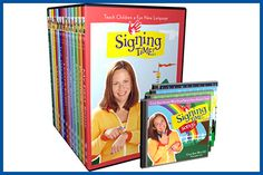 "IT'S SIGNING TIME!  ""There's singing time and dancing time and laughing time and playing time and now it is our favorite time, signing time!"" That's the opening line to the theme song of Signing Time, Rachel Coleman's first educational DVD series for kids! Click Pic to Read More... (from http://SuperParentMom.com)"