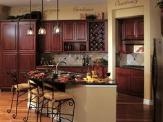 I love the built in wine rack and the color