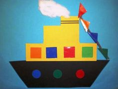 => copier un bateau pour wiskune www. Diy For Kids, Crafts For Kids, Arts And Crafts, Sea Crafts, Paper Crafts, School Art Projects, Projects To Try, Saint Nicholas, Winter Wonder