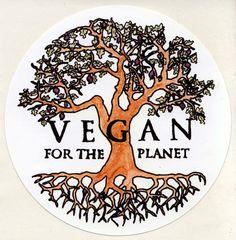 Vegan For The Planet : Tree Of Life outdoor sticker #MyVeganJournal