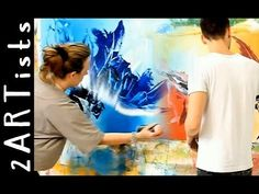 Abstract acrylic painting demo showing parts of personal art lesson - by zacher-finet - YouTube