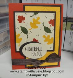 Stampin Up!- 'Fall Fest' Love this new Photopolymer stamp set.  It has coordinating framelits too!!