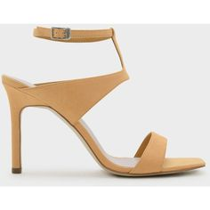35d162c1cf74 Charles   Keith ANKLE STRAP HEELS ( 49) ❤ liked on Polyvore featuring shoes