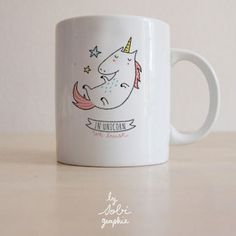 Cute Animal Mugs - In Unicorn We Trust! by Sobigraphie