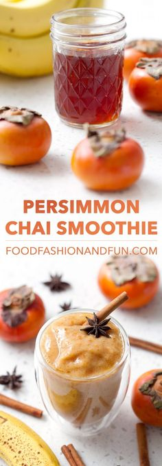 Beth from @officialfff creates this Persimmon Chai Smoothie using only a few ingredients in her Vitamix!