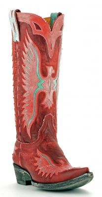 Womens Old Gringo Eagle Boots Red Brown And Chocolate #L105-112 via @Allens Boots