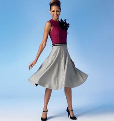 McCalls 7048 Misses' Top, Dress and Skirt by Designer Joi and with her markings to help with fit