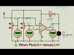 Operational Amplifier as Comparator in Electronics - General Circuits Shop Layout, Circuits, Layouts, Audio, Electronics, Shop Plans, Store Layout, Consumer Electronics