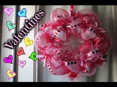 Here's my dollar tree deco mesh wreath for valentines day. Supply list will be below! Be sure to subscribe for more frugal crafts and diys! Simple wreath tut...