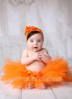 Orange Baby Tutu, Newborn Tutu, Fall Pumpkin Tulle Tutu, Handmade Tutu, Orange Little Girl Tutu, Halloween Newborn Skirt by PrincessBowtiquecom on Etsy https://www.etsy.com/listing/205267369/orange-baby-tutu-newborn-tutu-fall