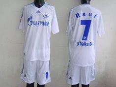Schalke 04 #7 Raul 2011/2012 White Home Soccer Club Jersey @Emillia Kelly