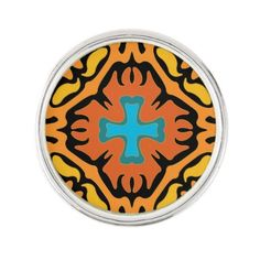 #Halloween Abstract with Blue Accents Lapel Pin - #Halloween #happyhalloween #festival #party #holiday