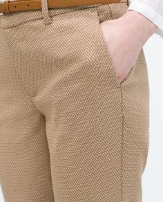 ZARA - NEW THIS WEEK - BELTED JACQUARD TROUSERS
