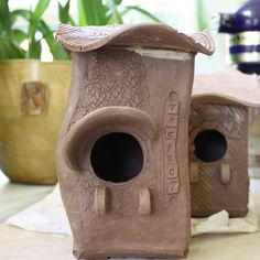 "Bird houses by Cherie Giampietro  ""Vacancy"""