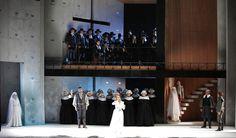 I Puritani from Teatro Pergolesi di Jesi. Production by Carmelo Rifici. Sets by Guido Buganza.