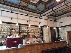 Fleischerei Zeymer - Leipzig, Sachsen, Deutschland. Ein schönes Café in einer ehemaligen Fleischerei
