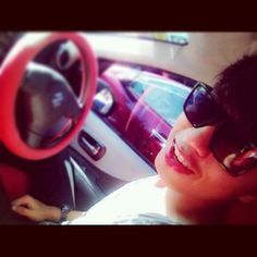 at car
