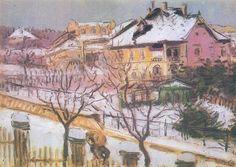 Jozsef Rippl-Ronai (1861-1927) - The Kelenhegyistrabbe in the Winter